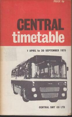 £6 • Buy Central Scottish Smt Bus Timetable Book Apr 1975 With Route Map