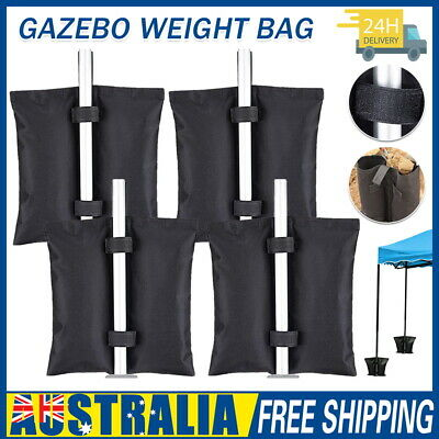 AU23 • Buy 4 PACK Garden Gazebo Foot Leg Feet Weights Sand Bags For Marquee Party Tent AU
