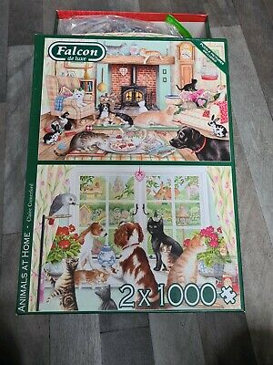 £4.99 • Buy Falcon De Luxe Animals At Home Jigsaw Puzzle - 11318 Claire Comerford Made Once