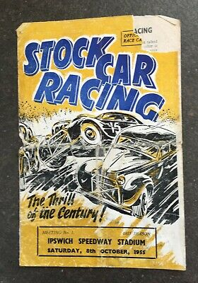 £15.99 • Buy Vintage Ipswich Stock Car Programme 8th October 1955 **Extremely Rare**