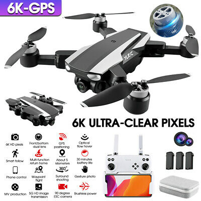 AU152.99 • Buy 5G 6K GPS Drone X Pro With HD Dual Camera Drones WiFi FPV Foldable RC Quadcopter