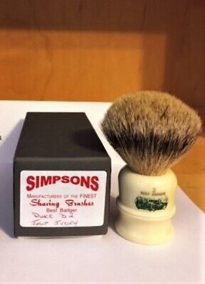 £35 • Buy SIMPSONS Duke 2 In Best Badger, With Imitation Ivory Handle