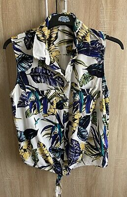 £4.90 • Buy TU Tropical Floral Print Sleeveless T-Shirt Blouse - Size 18 New