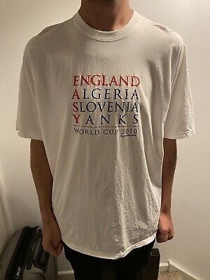 £0.99 • Buy England Football T-Shirt XXL White FIFA World Cup 2010 South Africa Soccer