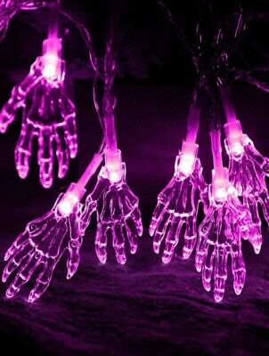 £7.99 • Buy Scary Halloween String Lights With 10pcs Skeleton Hand Bulb Spooky Decoration