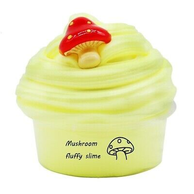 AU2 • Buy Mushroom Fluffy Slime Butter Scented Floam Cute Clay Stretchy