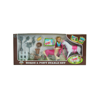 £9.99 • Buy Charlottes Horse & Pony Stable Play Set & Accessories Kids Toys NEW