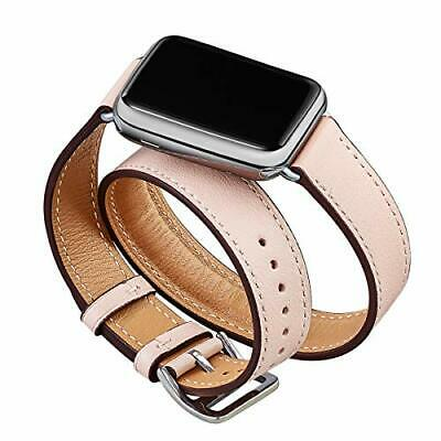AU28.99 • Buy OMIU Band Compatible For Apple Watch 38mm 40mm 42mm 44mm Leather Double Tour ...