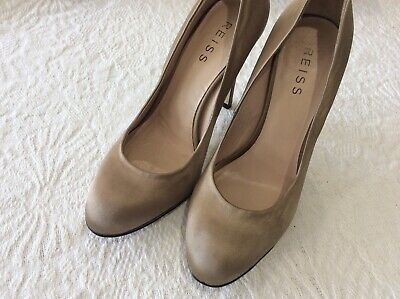 £9.99 • Buy Reiss Taupe Satin Court Shoes Size 38/5