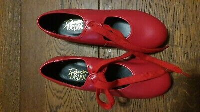 £5 • Buy Child's Red Tap Dancing Shoes,  Size 4
