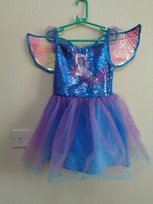 £4.99 • Buy Girls Unicorn Fairy + Wings Dressing Up, Fancy Dress Costume Age 7-8 From George