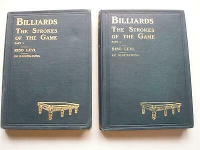 £80 • Buy BILLIARDS THE STROKES OF THE GAME Parts 1 And 2 Riso Levi Illustrated 16N