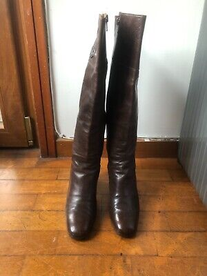 £49 • Buy Vintage GUCCI Brown High Boots Sz 35
