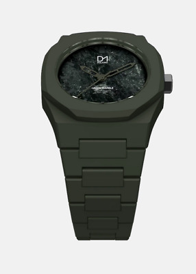£69.99 • Buy D1 Milano MA 06 Green Unique Marble Face Italian Design Watch In Polycarbonate