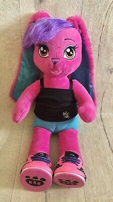 £6.99 • Buy Build A Bear HG Honey Girls Pink Risa Rock Star Bunny Rabbit Soft Toy With Shoes