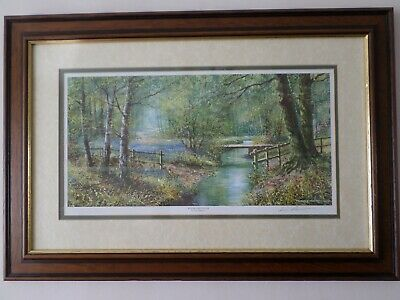 £24.99 • Buy Woodland Stream By Terry Harrison Framed Signed Print 24  X 16½