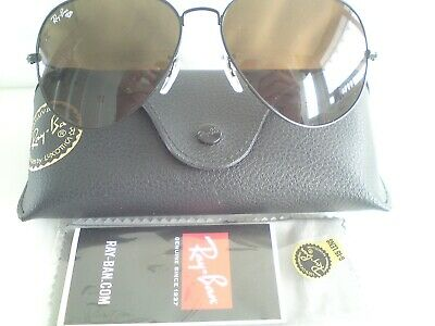 £35 • Buy Ray-Ban Aviators (RB3025) In Ray Ban Black Case With Wipe And Info.