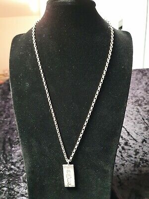 £19.99 • Buy Vintage Solid Silver Ingot Pendant And Chain Jewellery Christmas Gift