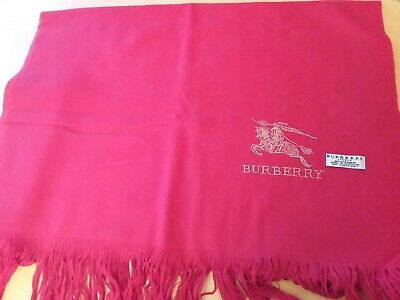 £32 • Buy Burberry 100% Cashmere Red Scarf