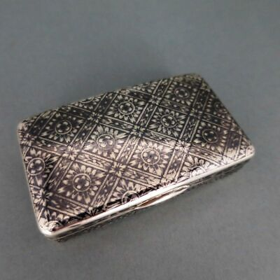 AU1485.80 • Buy Antique Snuffbox IN Silver, Gold And Niello Russia Moscow 1838