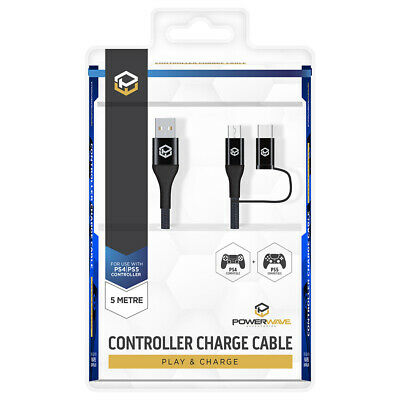 AU26.95 • Buy POWERWAVE PS4 And PS5 5m Controller Charging Cable NEW