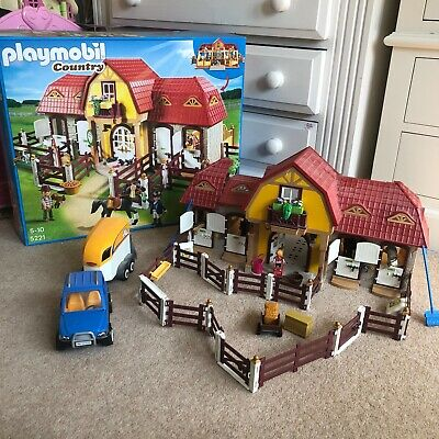£85 • Buy PLAYMOBIL Country 5221 Large Horse Farm With Paddock