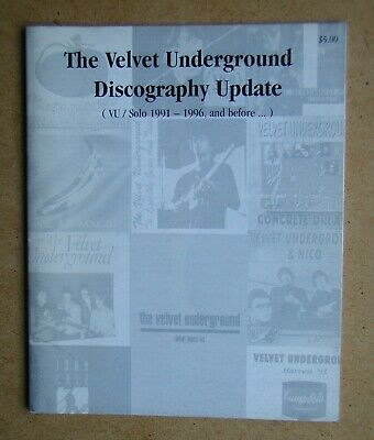 £19.99 • Buy The Velvet Underground Discography Update (VU/Solo 1991-1996, And Before...)