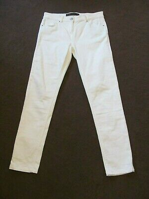 £14.99 • Buy Next Womens White Jeans Skinny Fit Mid Rise Fit Size 12 Regular 12R Low Post