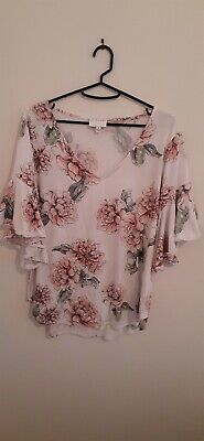 AU14 • Buy Witchery M Pink Floral Top