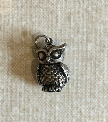 £20 • Buy Vintage Silver Owl Necklace Bracelet Charm Hallmarked 925 Moving Head And Wings