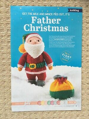 £1 • Buy Father Christmas & Toy Sack Knitting Pattern