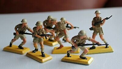 £0.99 • Buy Britains Deetail 8th Eighth Army X 9 Made In England Metal Bases Soldiers WW2