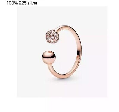 AU29 • Buy 925 Sterling Silver Dazzling Rose Gold Ring Size 56 (7) By Pandora's Star