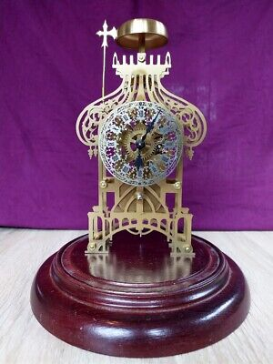 £120 • Buy Skeleton Mantel Clock And Glass Dome