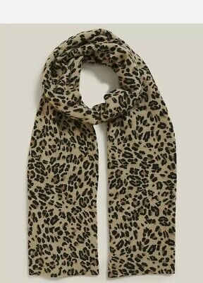£49.99 • Buy Marks & Spencer Autograph Pure Cashmere Animal Print Scarf (RRP £69)