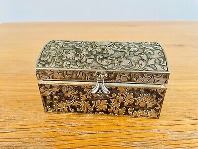 £55 • Buy Small Silver Box - Arts And Crafts Pattern