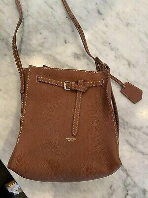 AU82 • Buy Oroton Tan Textured Leather Cross Body Bag Never Used New!