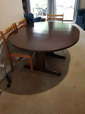 AU100 • Buy Dining Table - Timber Extendable - Mahogany Colour