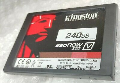 £24.99 • Buy 240GB KINGSTON SV300S37A/240G 2.5  7mm + Spacer SSD Solid State Drive