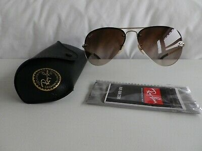 £36 • Buy Ray-Ban RB3449 Aviators With Black Case And Unopened Wipe Etc.