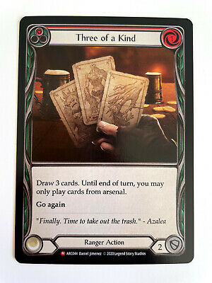 £15 • Buy THREE OF A KIND - FOIL MAJESTIC - Flesh And Blood TCG Arcane Rising Unlimited