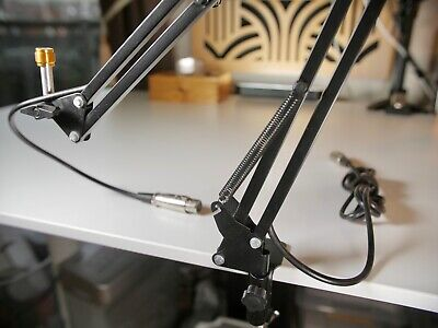 £8 • Buy 28  Microphone Boom Arm Studio Desk Clamp Mic Stand W/ XLR Cable - Nr Mint