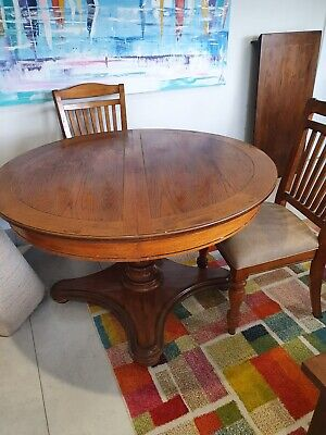AU75 • Buy Solid Wood Dining Table, Extendable + 6 Chairs