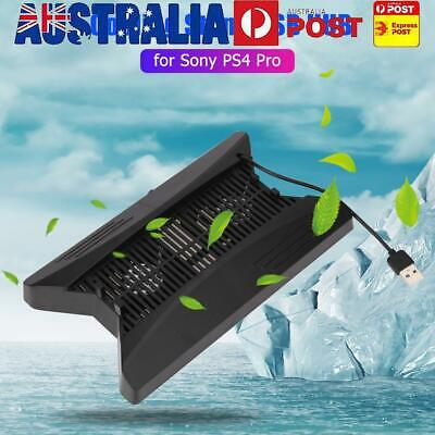 AU22.69 • Buy Vertical Stand Cooling Fan Dock W/3 SB HUB For Playstation PS4 Pro Console