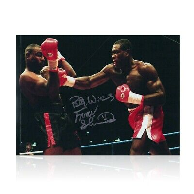 AU144 • Buy Frank Bruno Signed Boxing Photo: Fighting Oliver McCall