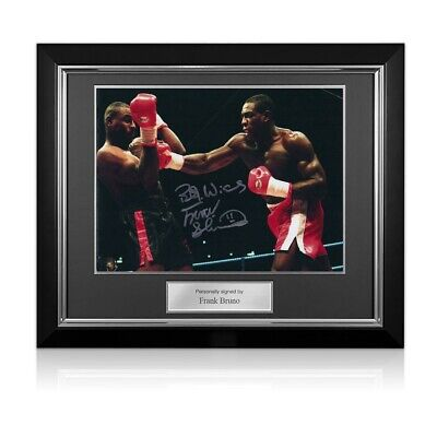AU320 • Buy Frank Bruno Signed Boxing Photo: Fighting Oliver McCall. Deluxe Frame