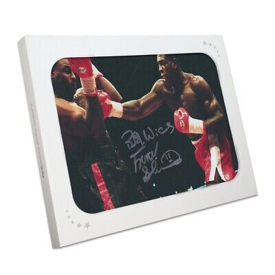 AU174 • Buy Frank Bruno Signed Boxing Photo: Fighting Oliver McCall. In Gift Box