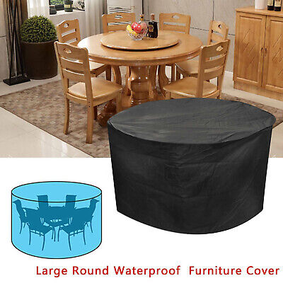 £10.99 • Buy Outdoor Dust Cover Round Large Table Cover Patio Chair Rattan Cube Furniture Set