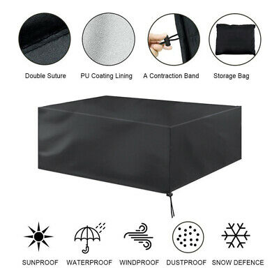 £3.60 • Buy Garden Patio Waterproof Furniture Set Table Chair Rattan Sofa Cover Case Cube S