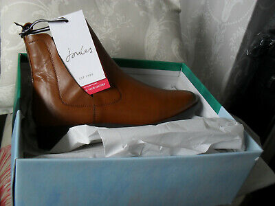 £26 • Buy Joules Cheltenham Tan Leather Boots Size 7
